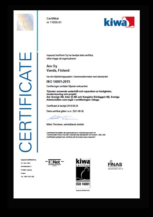 ISO14001 certifierade