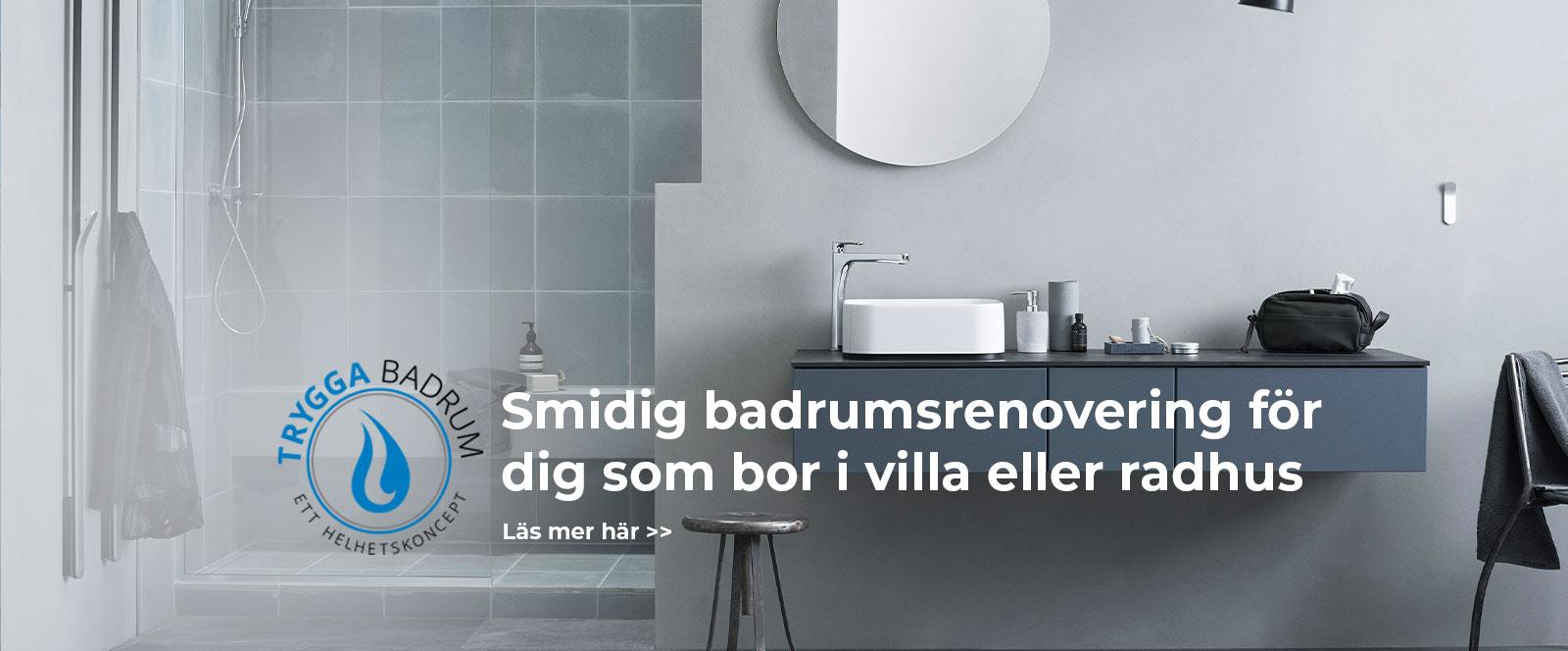 Badrumsrenovering i villa eller radhus